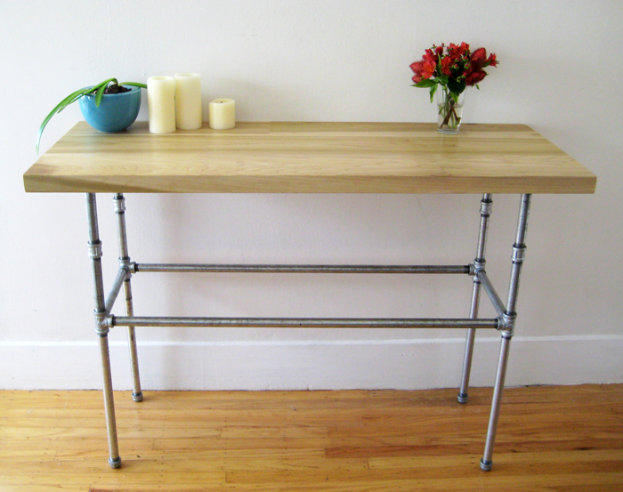 Poplar and Steel Pipe Table