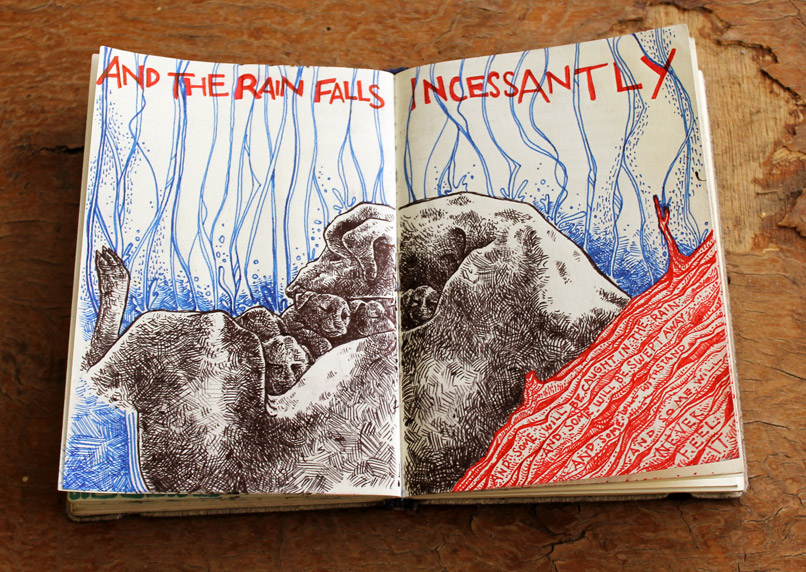 "Cairo Sketchbook -- ""And The Rain Falls Incessantly"""