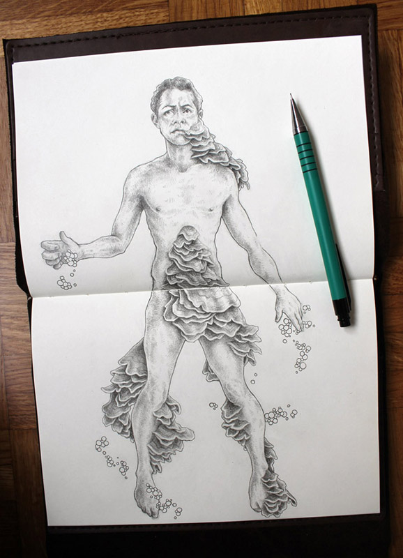 "Switzerland sketchbook -- ""Infection"""