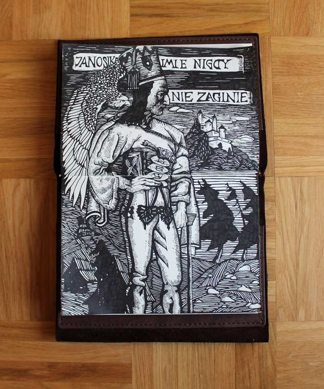 "Switzerland sketchbook -- ""Juraj Janosik, Copy from a Wood Cut"""