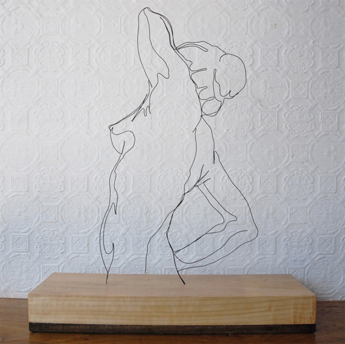"""Morning Pose"" wire sculpture"