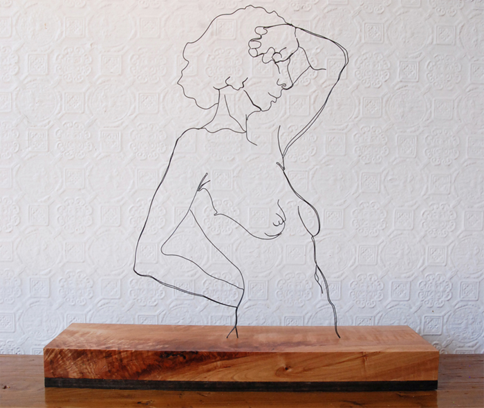 Rising wire sculpture