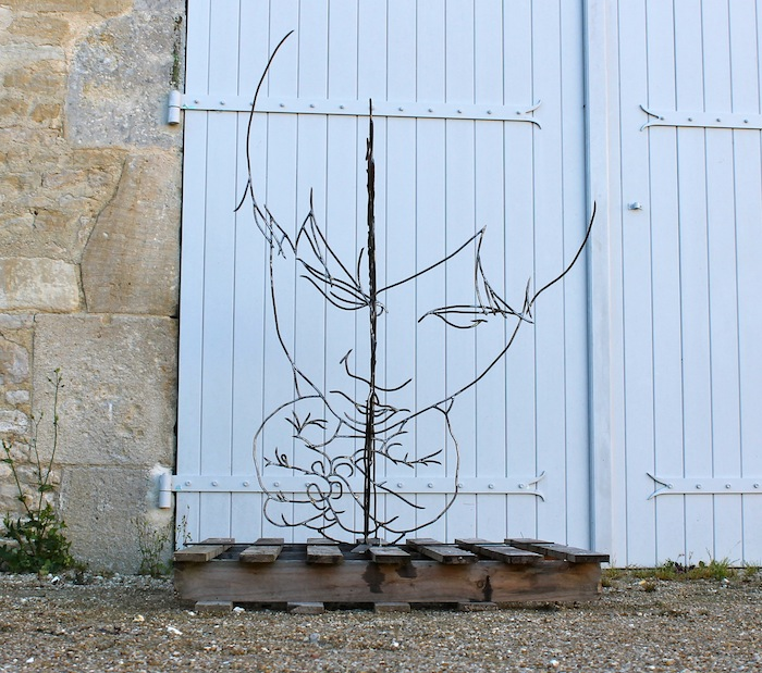 """The Egyptian Sibyl,"" monumental wire sculpture"